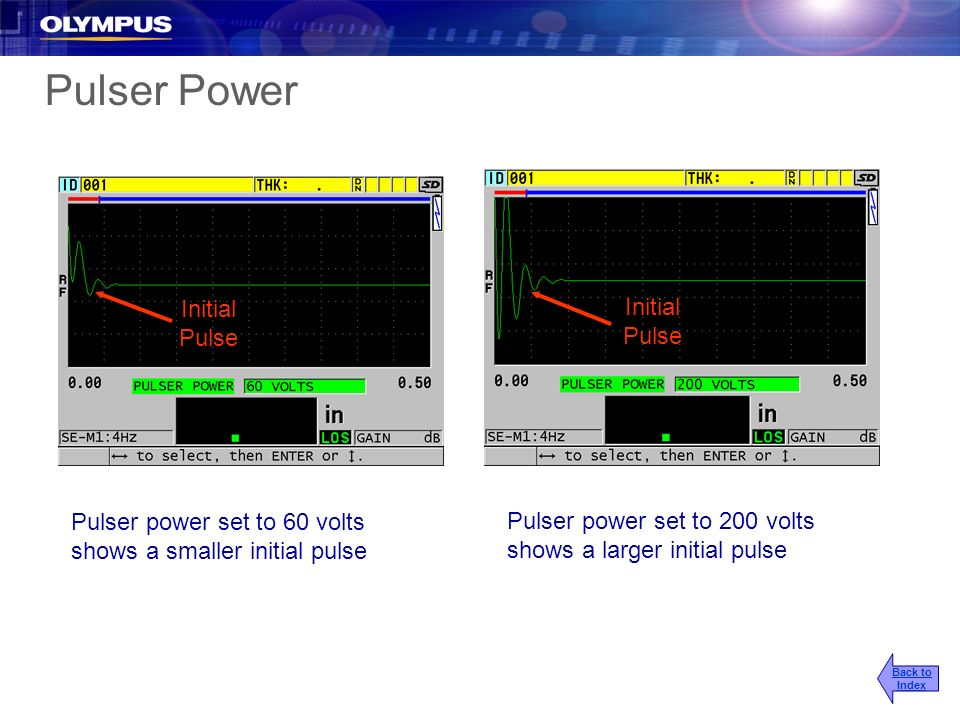 Pulser Power Initial Pulse Initial Pulse