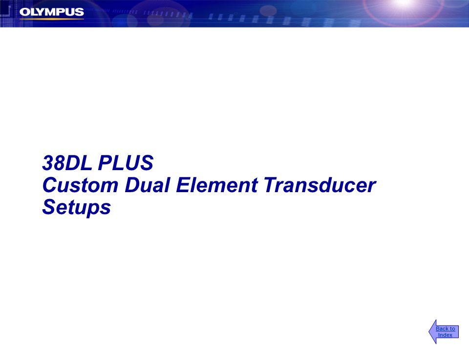 Custom Dual Element Transducer Setups