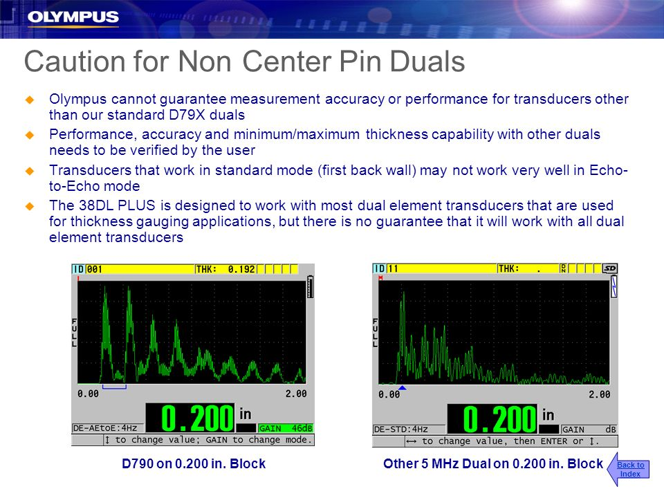 Caution for Non Center Pin Duals