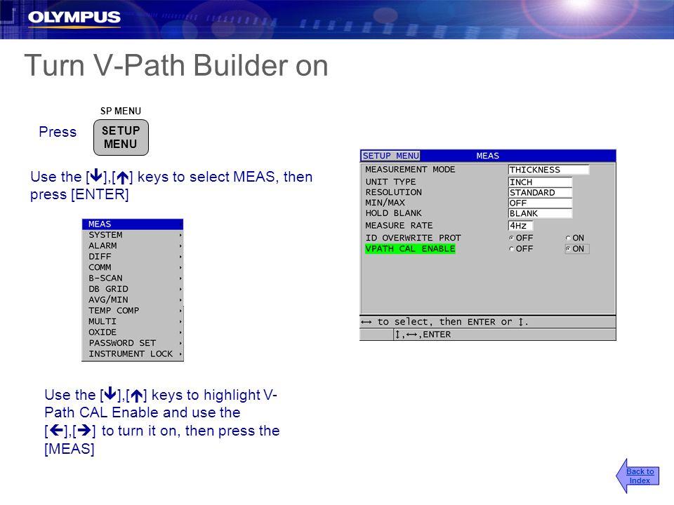Turn V-Path Builder on Press