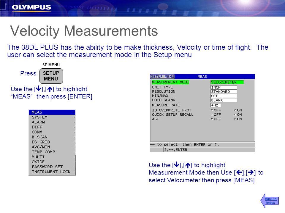 Velocity Measurements