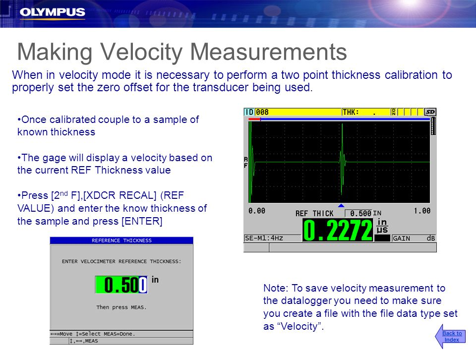 Making Velocity Measurements