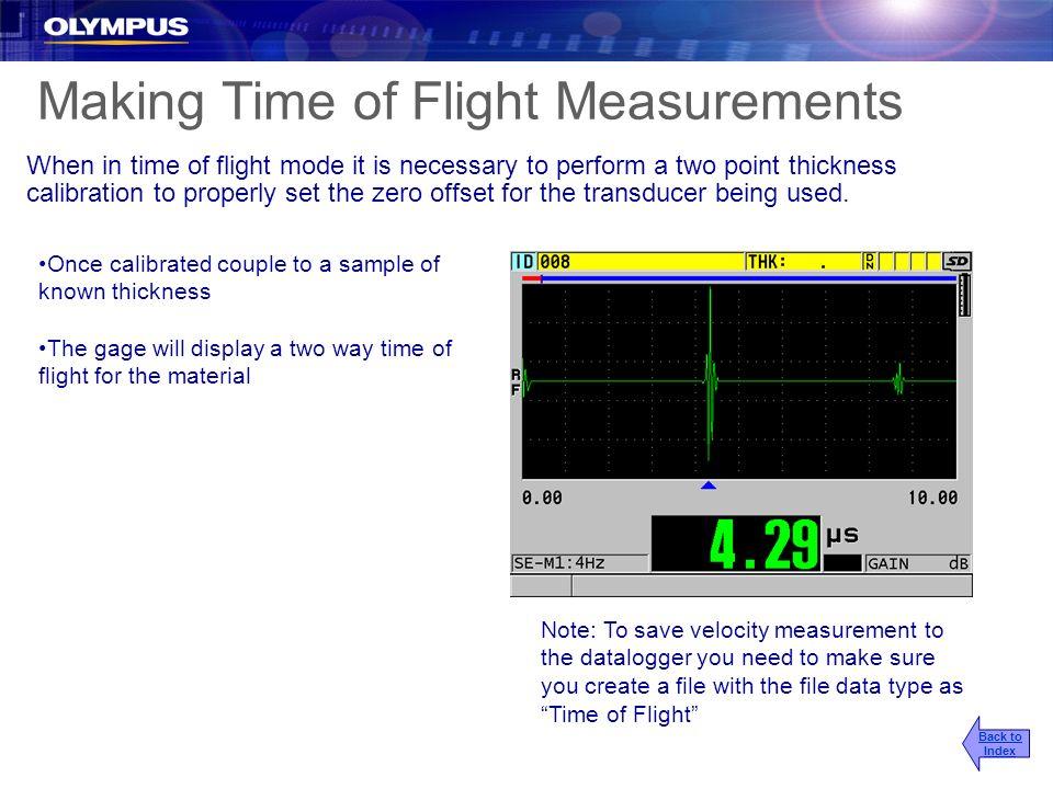 Making Time of Flight Measurements