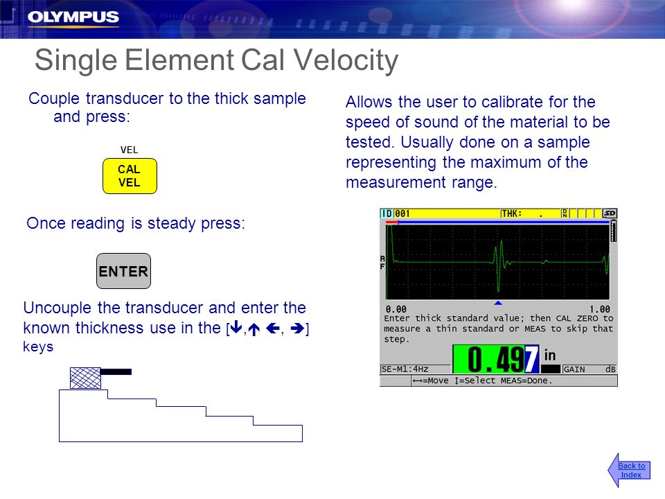 Single Element Cal Velocity