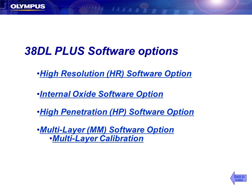 38DL PLUS Software options