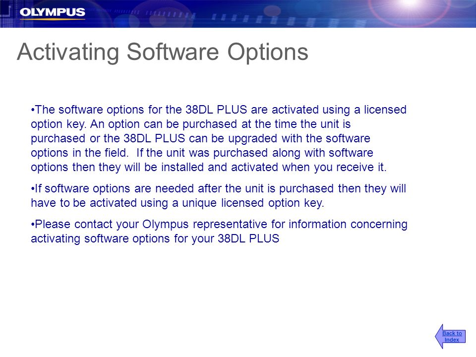 Activating Software Options