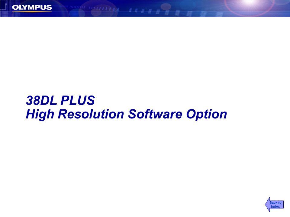 High Resolution Software Option