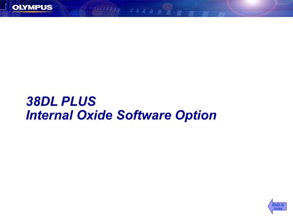 Internal Oxide Software Option