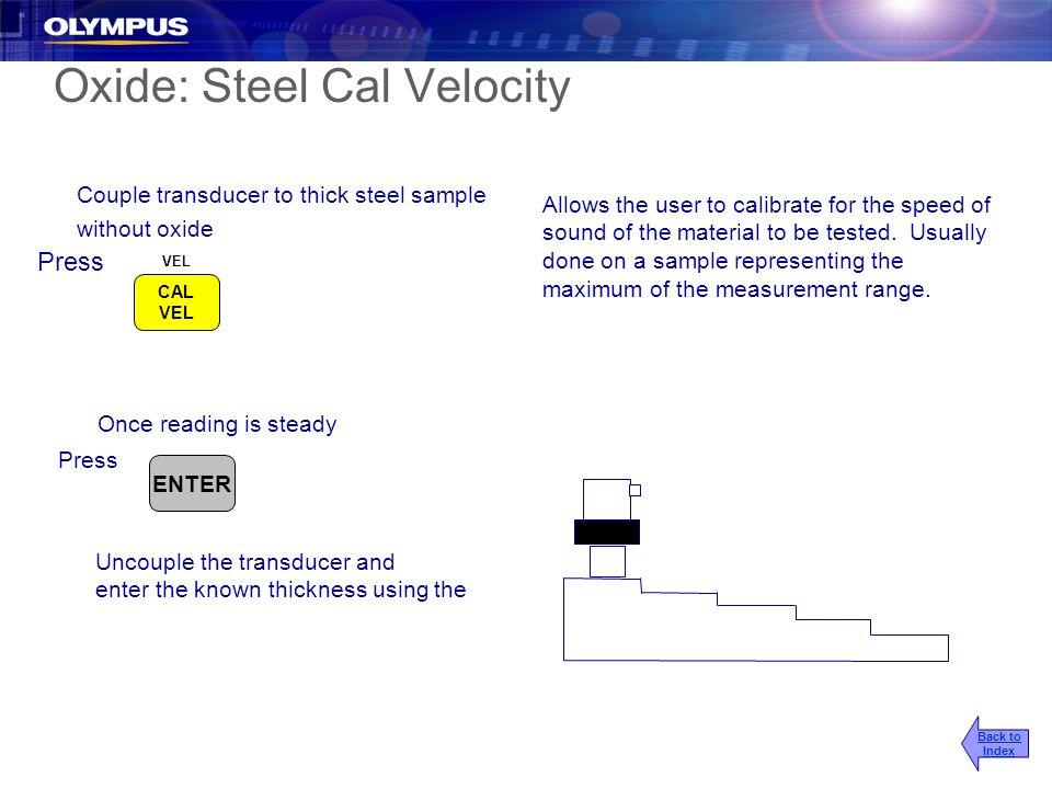 Oxide: Steel Cal Velocity