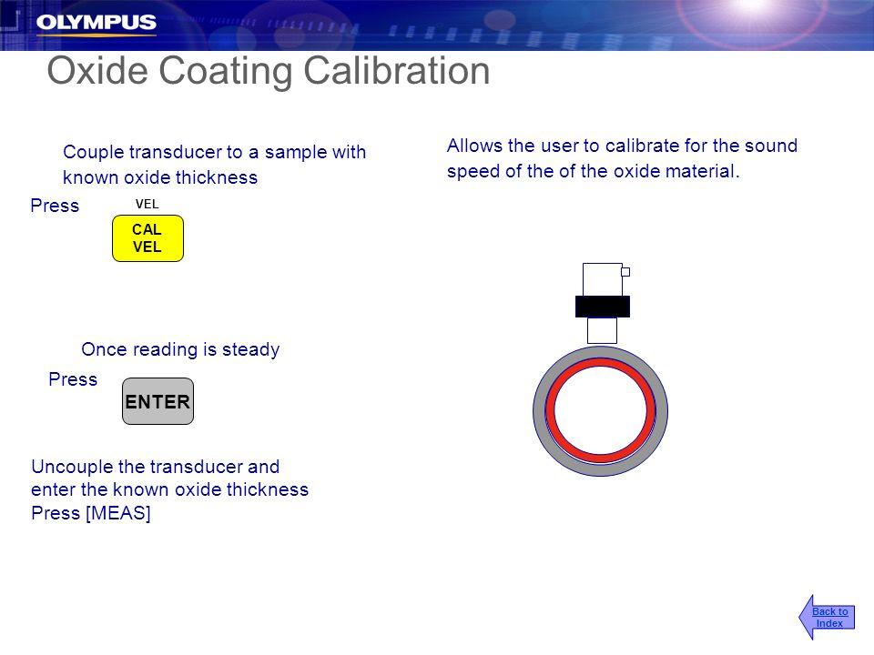 Oxide Coating Calibration