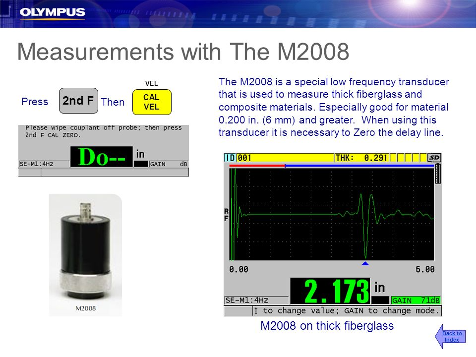 Measurements with The M2008