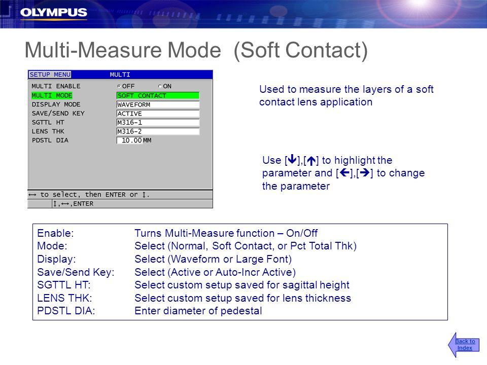 Multi-Measure Mode (Soft Contact)