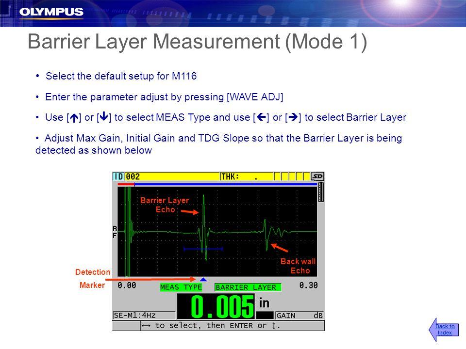 Barrier Layer Measurement (Mode 1)