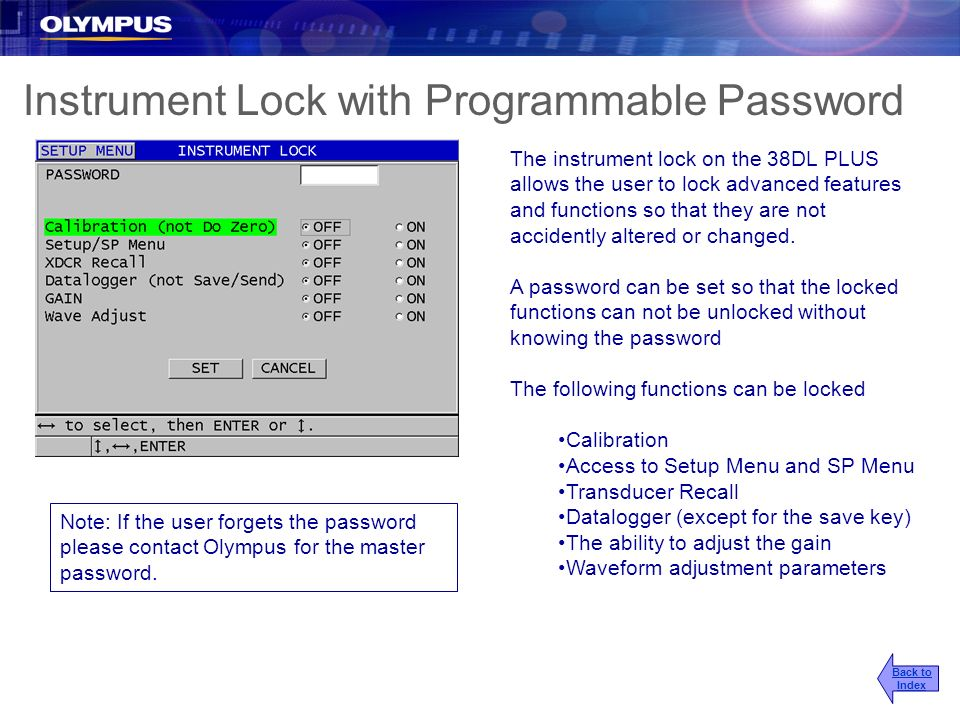 Instrument Lock with Programmable Password