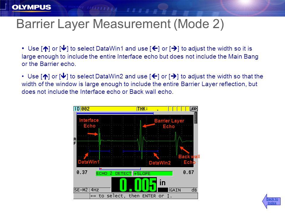 Barrier Layer Measurement (Mode 2)
