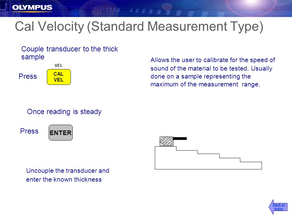 Cal Velocity (Standard Measurement Type)