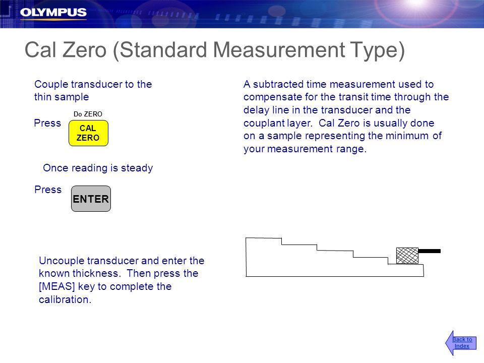 Cal Zero (Standard Measurement Type)