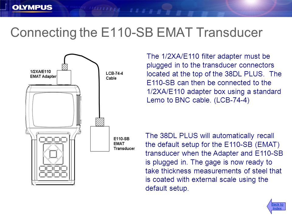 Connecting the E110-SB EMAT Transducer