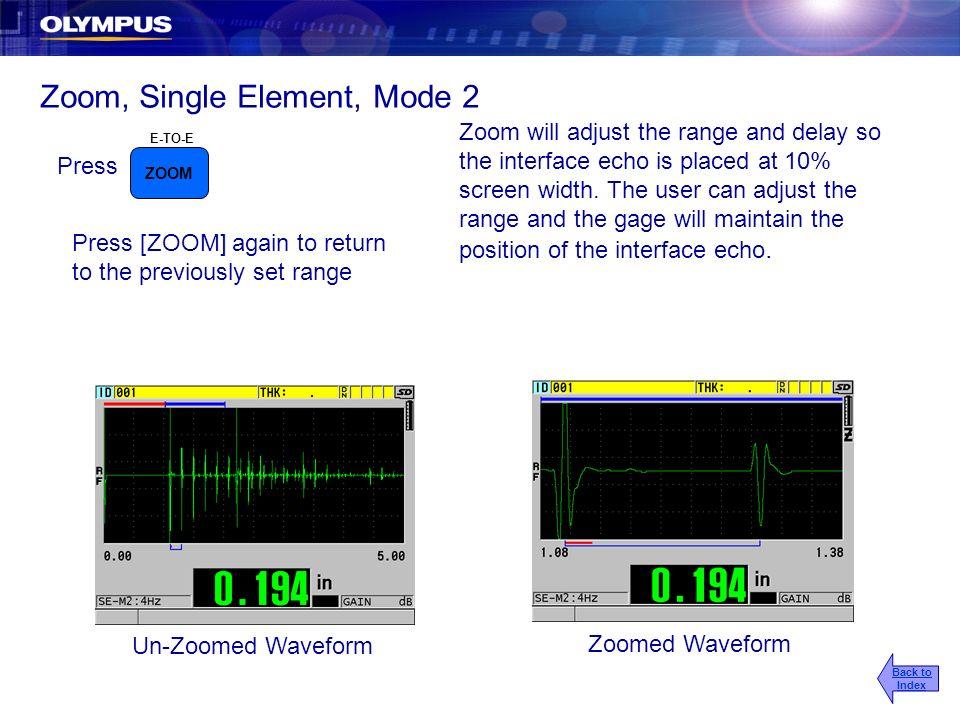 Zoom, Single Element, Mode 2