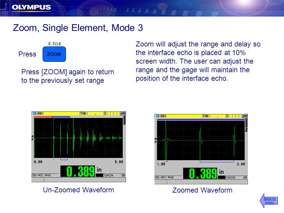 Zoom, Single Element, Mode 3