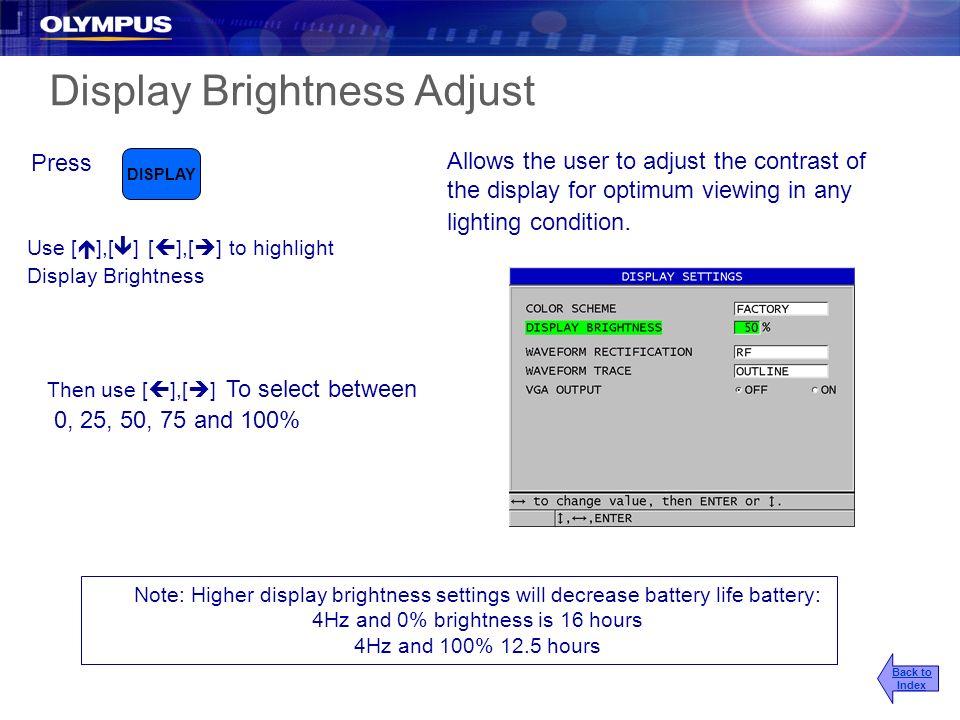 Display Brightness Adjust