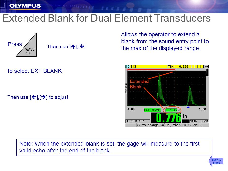 Extended Blank for Dual Element Transducers