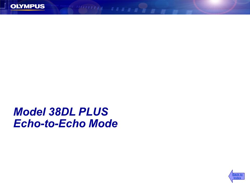 Model 38DL PLUS Echo-to-Echo Mode