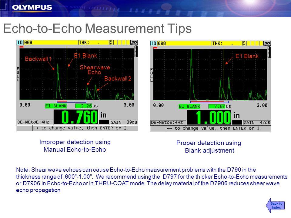 Echo-to-Echo Measurement Tips
