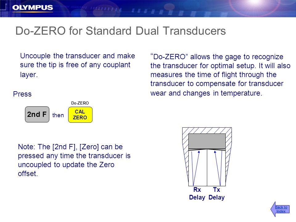 Do-ZERO for Standard Dual Transducers