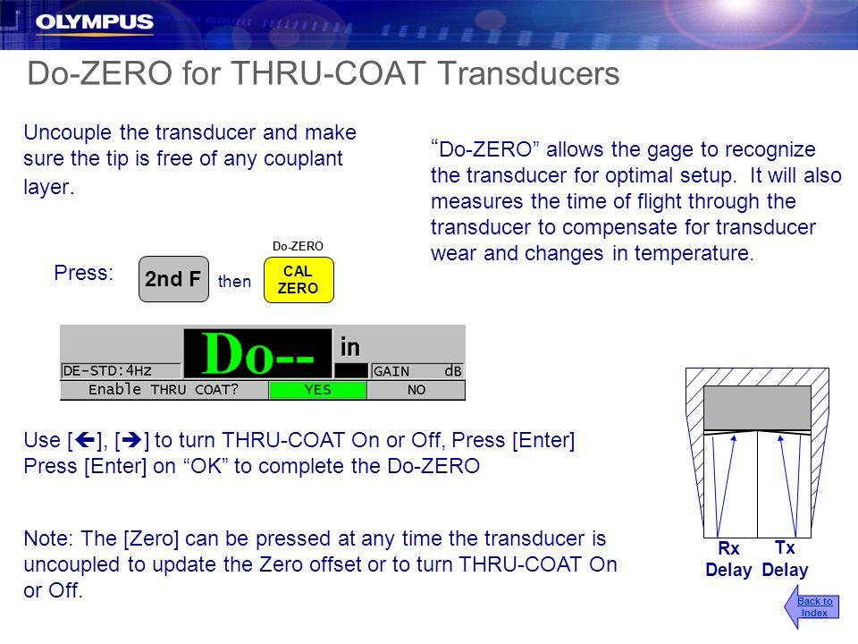 Do-ZERO for THRU-COAT Transducers