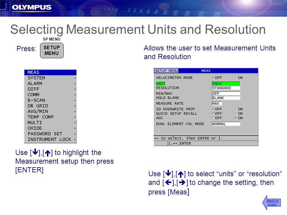 Selecting Measurement Units and Resolution