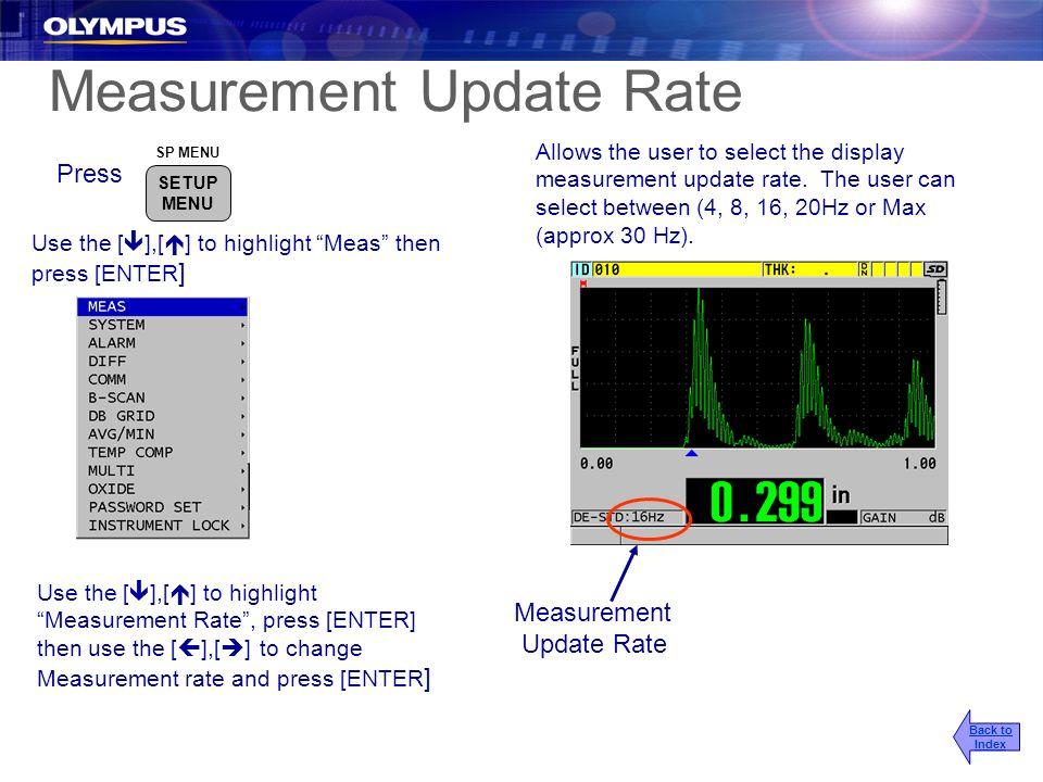 Measurement Update Rate