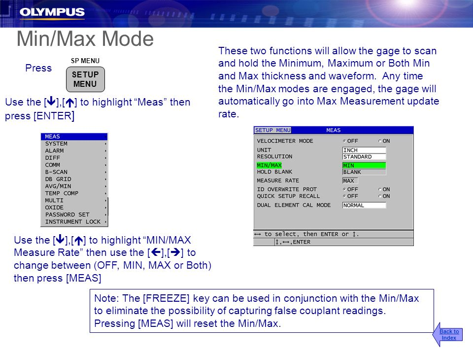 2017/3/25 Min/Max Mode.