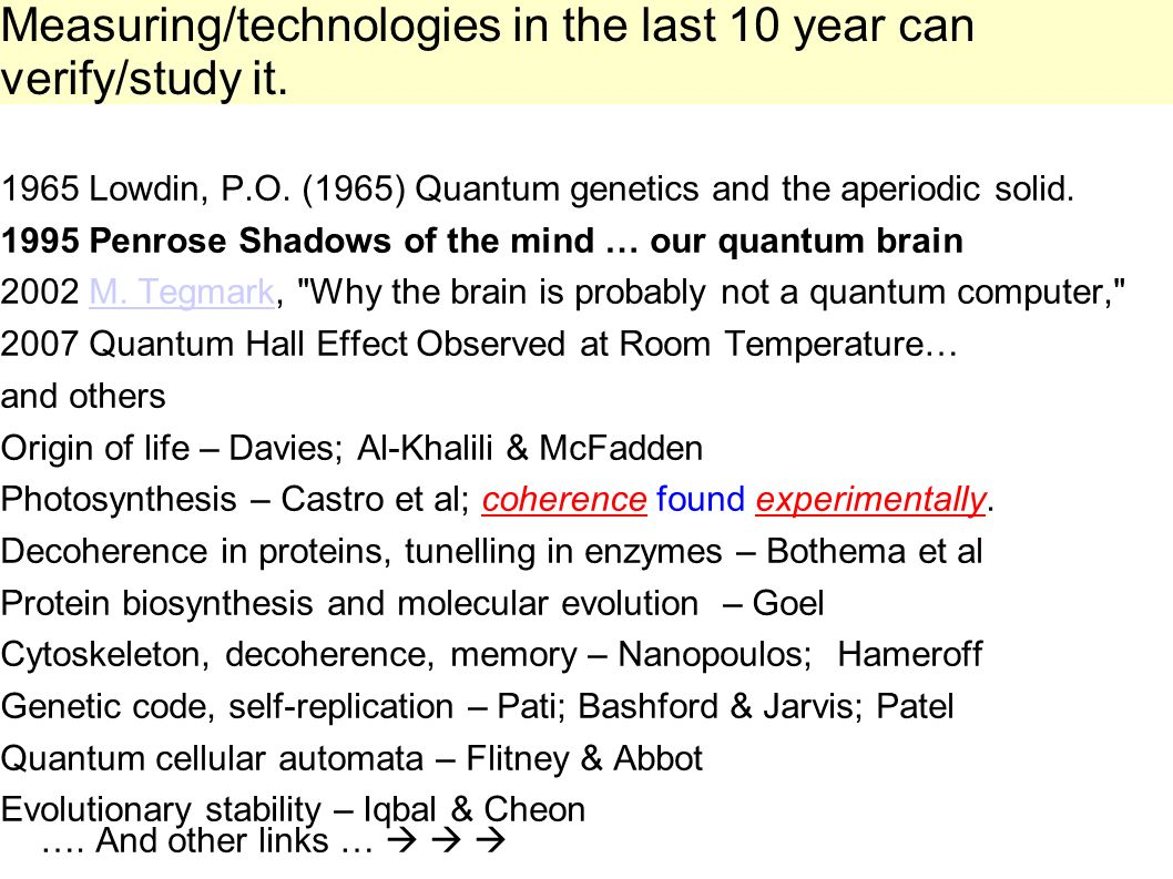 Measuring/technologies in the last 10 year can verify/study it.