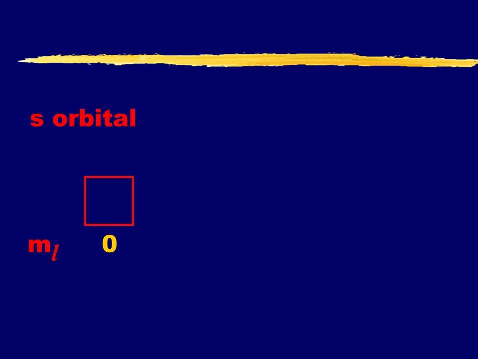 s orbital ml 0
