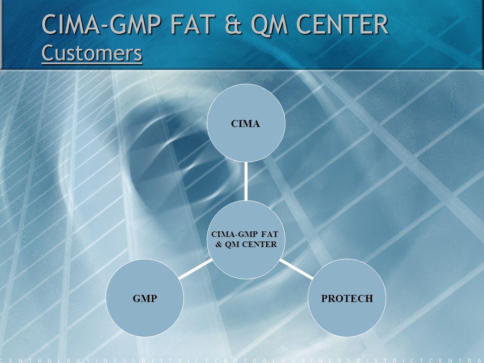 CIMA-GMP FAT & QM CENTER Customers