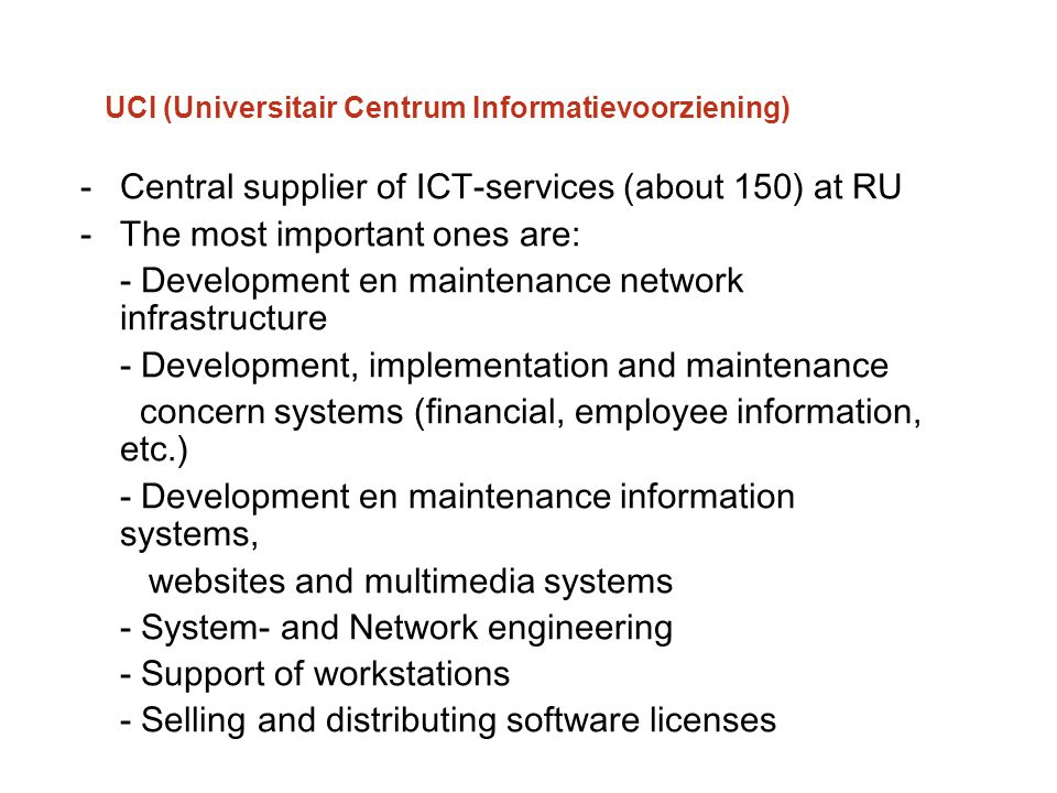 UCI (Universitair Centrum Informatievoorziening)