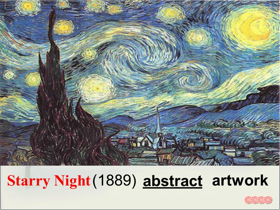 Starry Night (1889) abstract _______ artwork