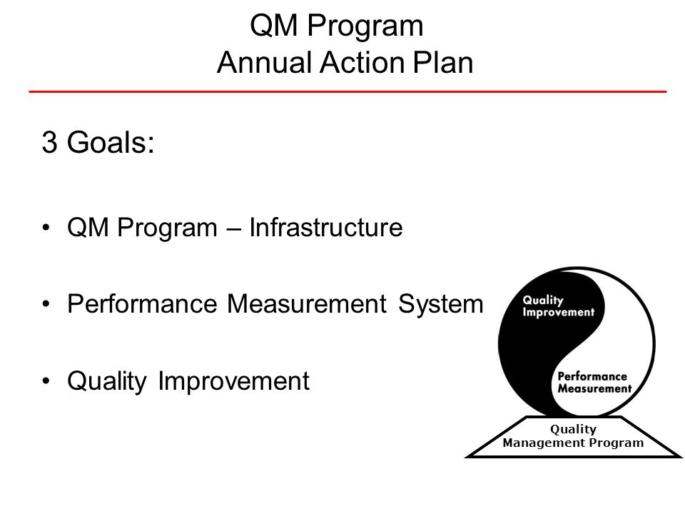 QM Program Annual Action Plan