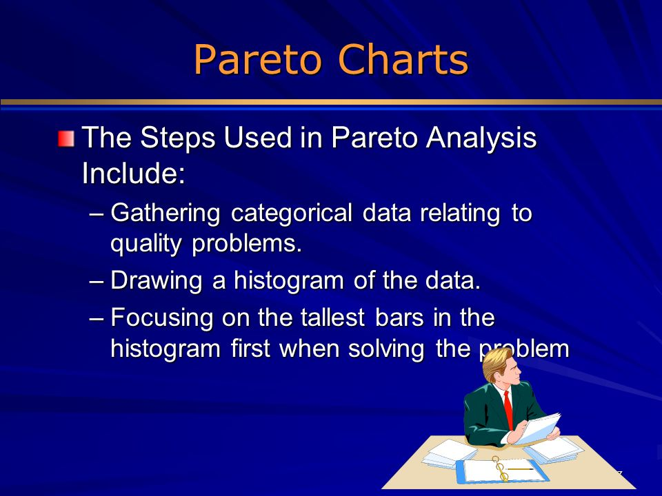 Pareto Charts The Steps Used in Pareto Analysis Include:
