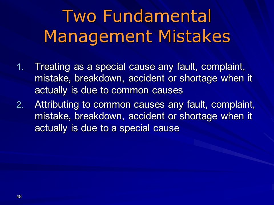 Two Fundamental Management Mistakes