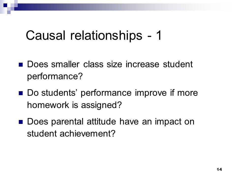 Causal relationships - 1