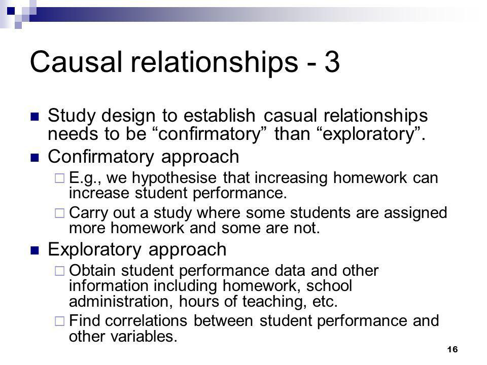 Causal relationships - 3