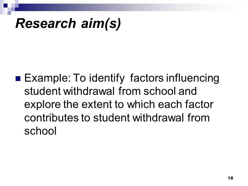 Research aim(s)