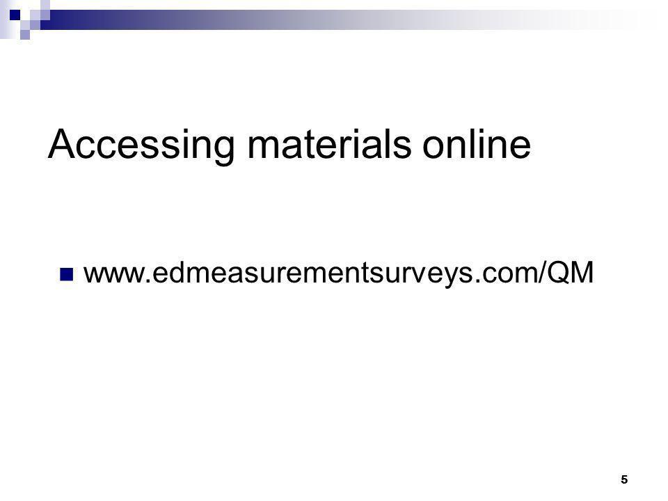 Accessing materials online