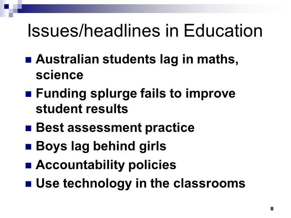 Issues/headlines in Education