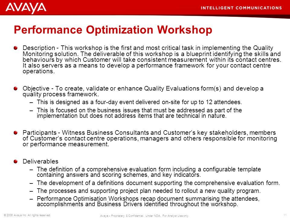 Performance Optimization Workshop
