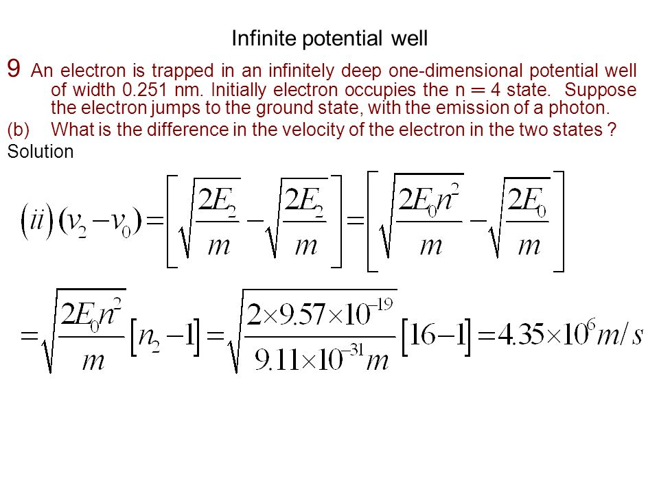 Infinite potential well