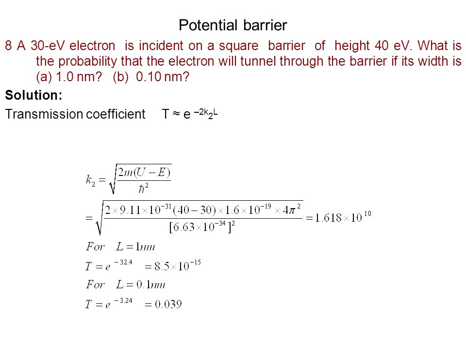Potential barrier