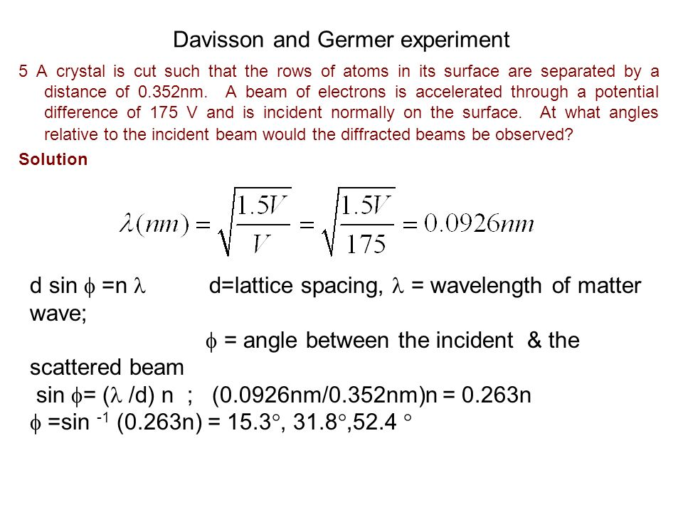Davisson and Germer experiment